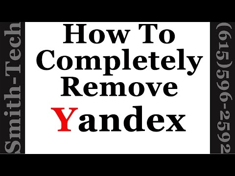 How To Remove The Yandex Toolbar From Firefox, Chrome and Internet Explorer