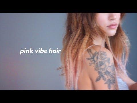DIY SUMMER PINK OMBRE HAIR | dahyeshka