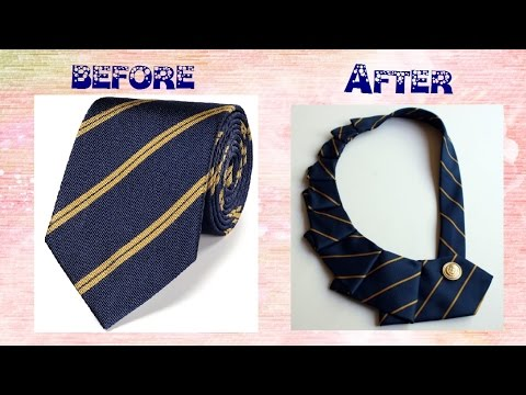 How to Change an Old Tie into an Edgy Necklace - DIY Projects