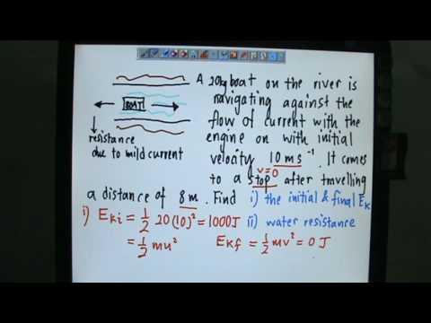 Work Done Equals Change of Kinetic Energy Calculations Example 1