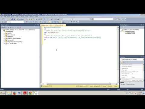 SQL Server tutorial 84: How to update database statistics using SSMS or T-SQL