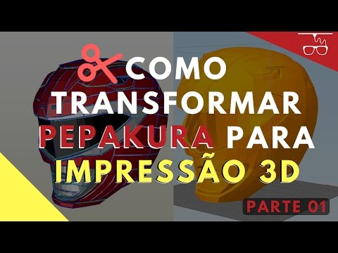 Como transformar Pepakura para Impressão 3D - Parte 1