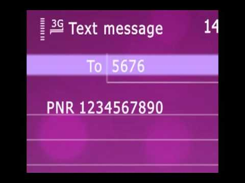 Video to show checking the PNR status of a train ticket through SMS in Gujarati
