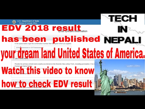 EDV lottery results are out for 2018||Check your edv 2018 result||in nepali