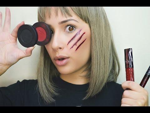 Simple Cut Tutorial Using Eye Shadow, Lipstick, and Lip Gloss