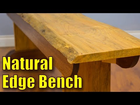 How to Make a Live Edge Bench | Natural Edge Bench