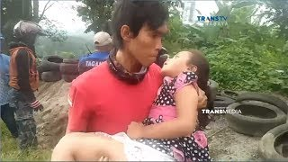 Detik-detik Pemotor Sekeluarga Rem Blong Meluncur Tabrak Pembatas Jalan - Arus Balik Lebaran 2017