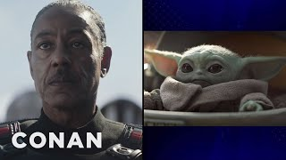 "Giancarlo Esposito On His Mysterious Role In ""The Mandalorian"" & Baby Yoda - CONAN on TBS"