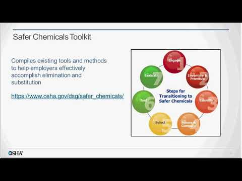 Webinar: Steps for Transitioning to Safer Chemicals: the OSHA Toolkit and Training