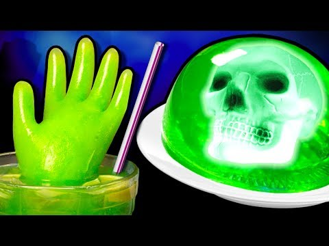 3 Easy DIY Halloween Party Ideas - Glow in the Dark Treats, Zombie Soda Punch & Table Decorations