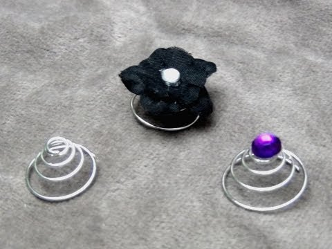 ■ How To Make Spiral Hair Pins (Twist in Hair Accessory - Flowers, Gems, Charms etc.)