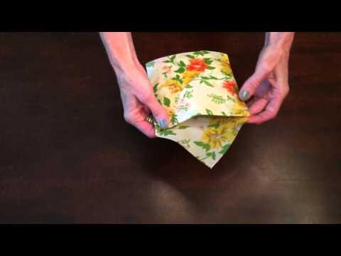 Wrapigami: Beeswax Wrap Sandwich Pocket Tutorial