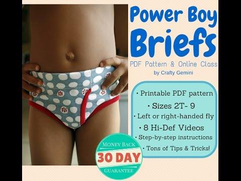 Boys Briefs Underwear PDF Pattern & Online Class Trailer