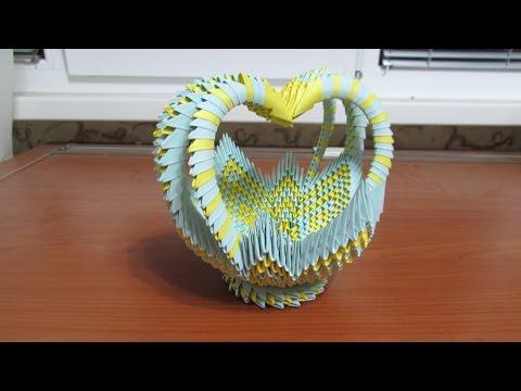 3D Origami Large Basket Tutorial