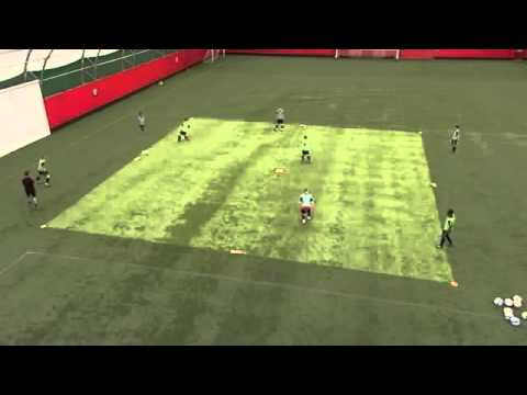 Soccer Coaching Possession Drill  Combination Play