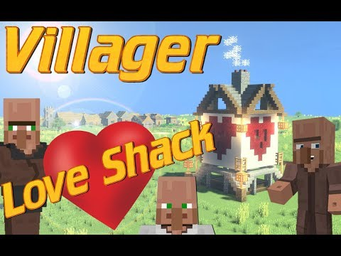 Minecraft: How to make a Villager Breeder LOVE SHACK | Minecraft Collaboration with Frilioth
