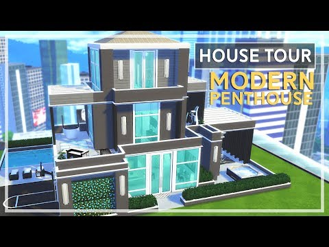 The Sims 4 - HOUSE TOUR | Modern Penthouse
