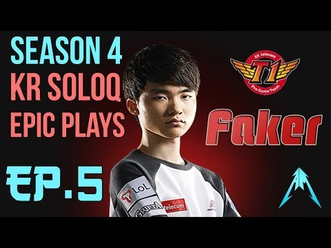 SKT T1 Faker - SoloQ Epic Plays With Nidalee Ep.5