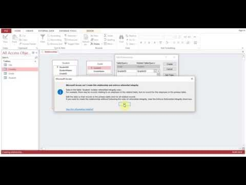 How to Join Multiple Tables   Relationship in MS Access Session 2