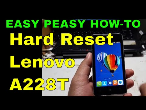 How To Hard Reset Lenovo A228T