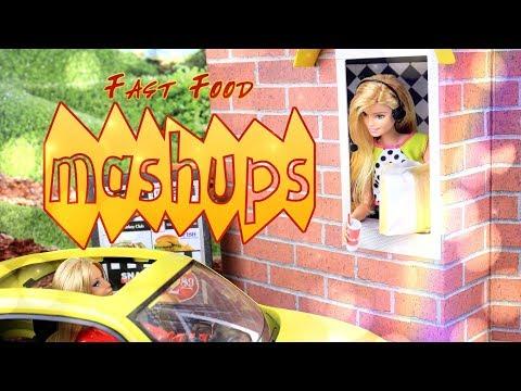 Mash Ups: Doll Fast Food Crafts | Resturant & Drive Thru | Burger | Chic Fila & More