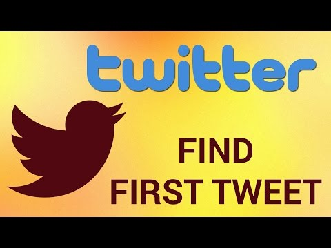 How to Find Anyone's First Tweet