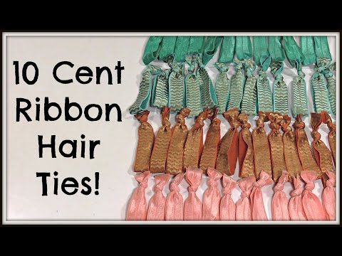 DIY Elastic Ribbon Hair Ties | Cheaper Than Dollar Tree!