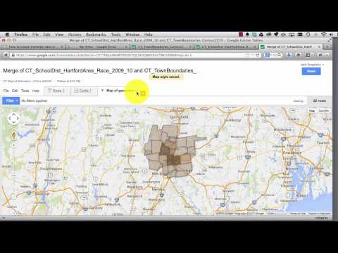 How to create thematic data maps with Google Fusion Tables