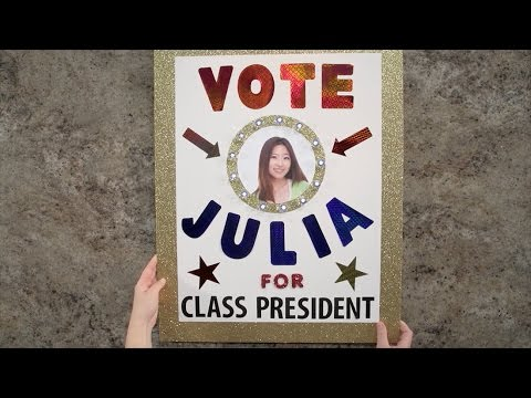 Create Election Posters that Win! | Class President Poster Idea