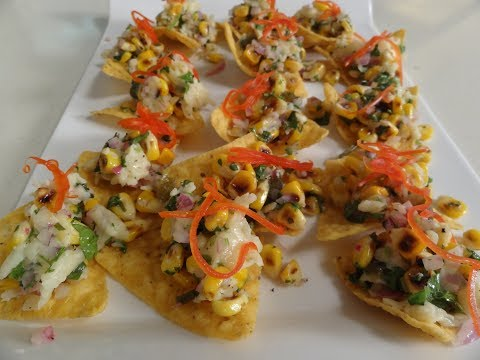 Tortilla Chips topped with Grilled Corn and Cheddar | Sanjeev Kapoor Khazana