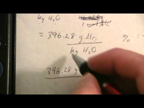 Concentration from Freezing Point Depression (2 of 2)
