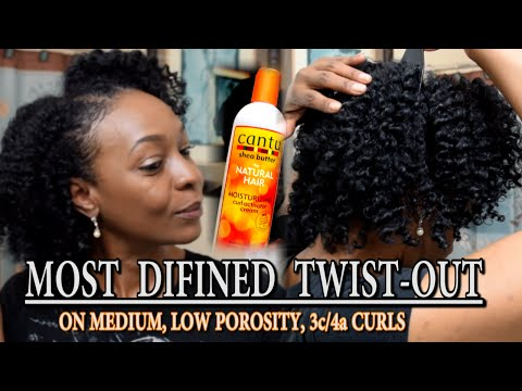 Most Defined Twist-Out | Cantu Moisturizing Curl Activating Cream, 3c/4a hair