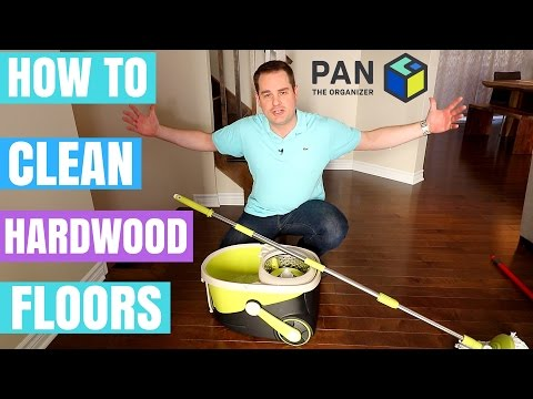 HOW TO CLEAN HARDWOOD FLOORS !!! (+ Mopnado Spin Mop review)
