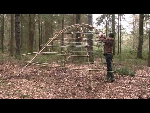 Building A Stone Age Hut As Survival Shelter