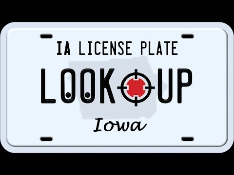 How to Search an Iowa License Plate Number