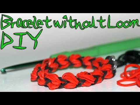 How to make rubber band bracelets without loom DIY