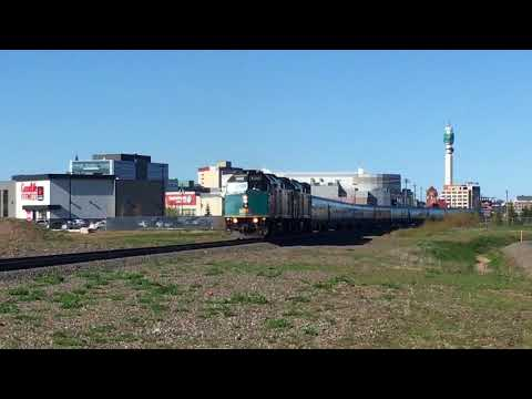 Via Rail Train 15 Leaving Moncton