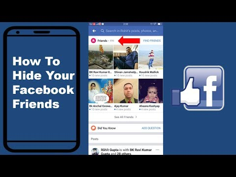 How To Hide Your Facebook Friends List 2018 On Mobile | Mobile App