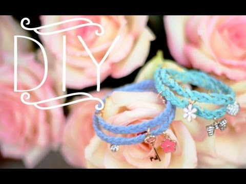 DIY Braided Charm Bracelets