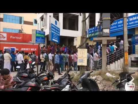 ATM queue in India ( People waiting to get hand on the new notes)