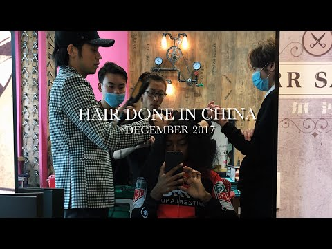 BLACK GIRL GETS HAIR DONE IN CHINA! (SUCCESS!!)| MARYJANEBYARM