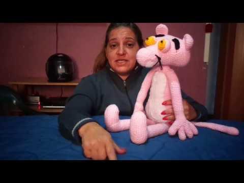 Amigurumi Pantera Cor de Rosa - Pink Panther Amigurumi | 360x480
