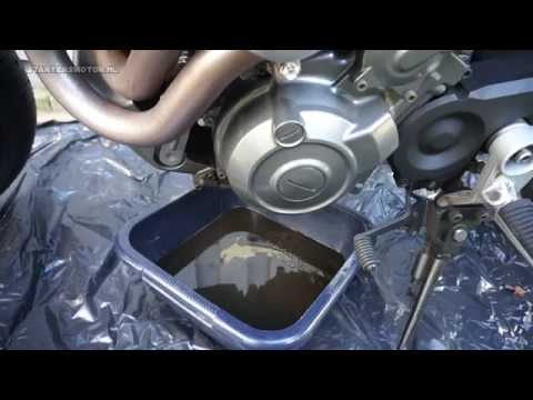 Yamaha MT-03: how to change oil + oil filter