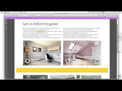 Edit Your Real Estate Flyer on a Mac