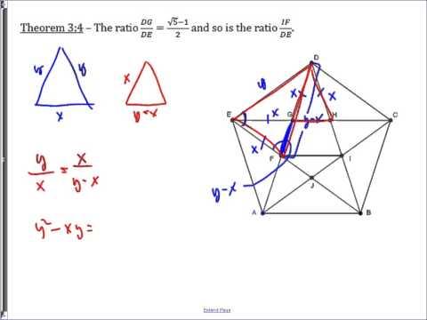 Diagonal Relationships in a Regular Pentagon
