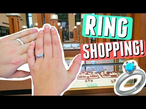 WEDDING RING SHOPPING VLOG! MY ENGAGEMENT RING + CHOOSING WEDDING BANDS FOR HIM + HER!