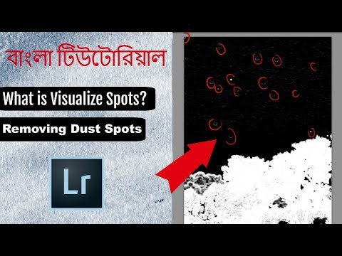 What is Visualize Spots? Removing Dust Spots with Lightroom cc - Lightroom Bangla Tutorial