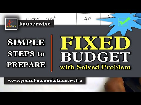 Fixed Budget [Profit on sales from total cost with prime cost] :-by kauserwise