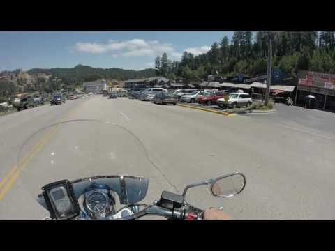Virtual Ride (motorcycle) - Sturgis 2016 - Back to Front of Mt Rushmore then to Keystone