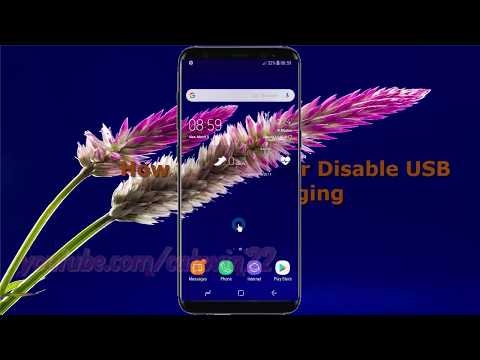 Android Nougat : How to Enable or Disable USB debugging in Samsung Galaxy S8 or S8+